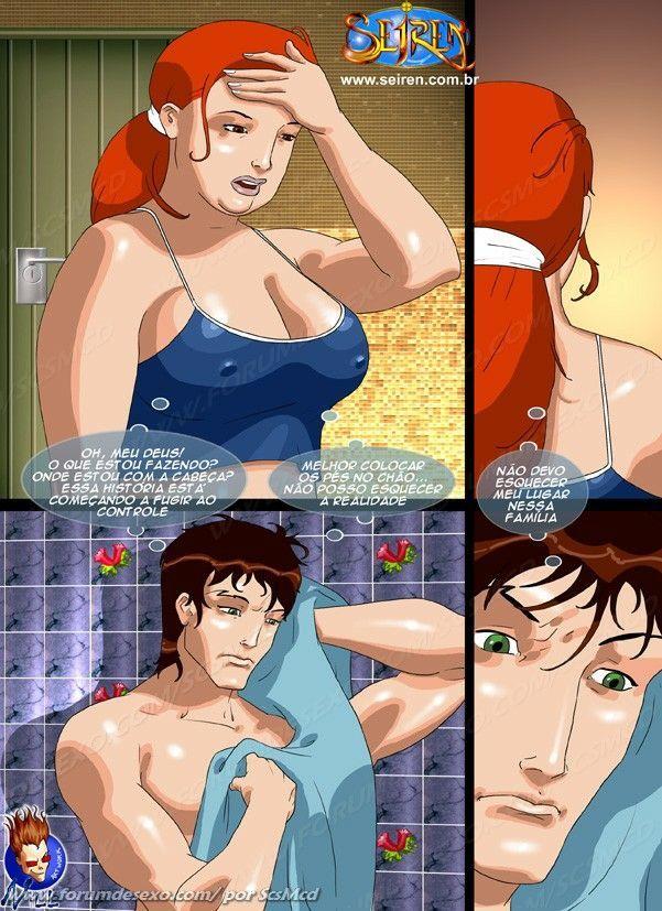 Depois da punheta Arthur termina o banho